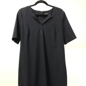 Ann Taylor navy short sleeve shift dress